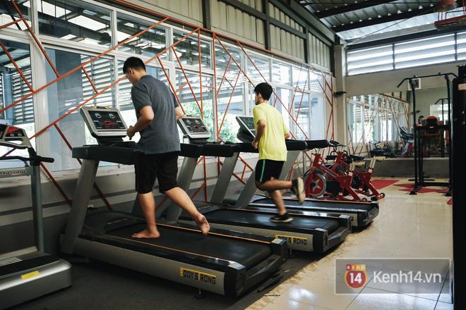 Trường cũng có phòng tập gym riêng cho học sinh - sinh viên