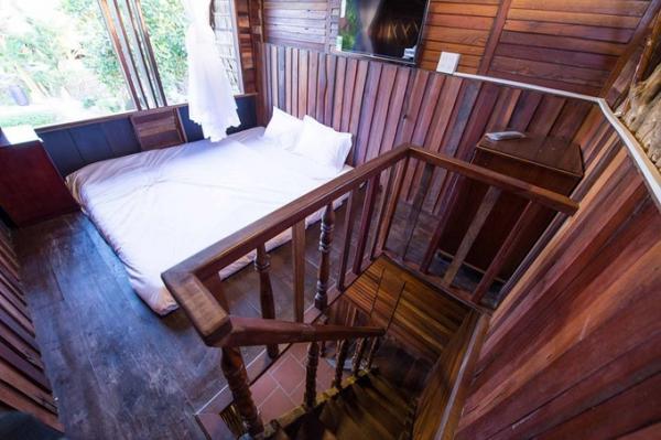 Không gian phòng ngủ ở Mekong Rustic. (Nguồn: Booking)