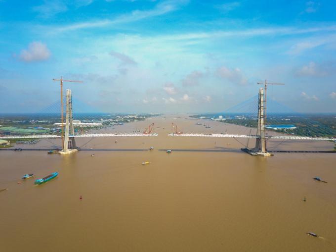 Hai bờ sông Hậu sẽ được kết nối và tạo thuận tiện cho người dân lưu thông