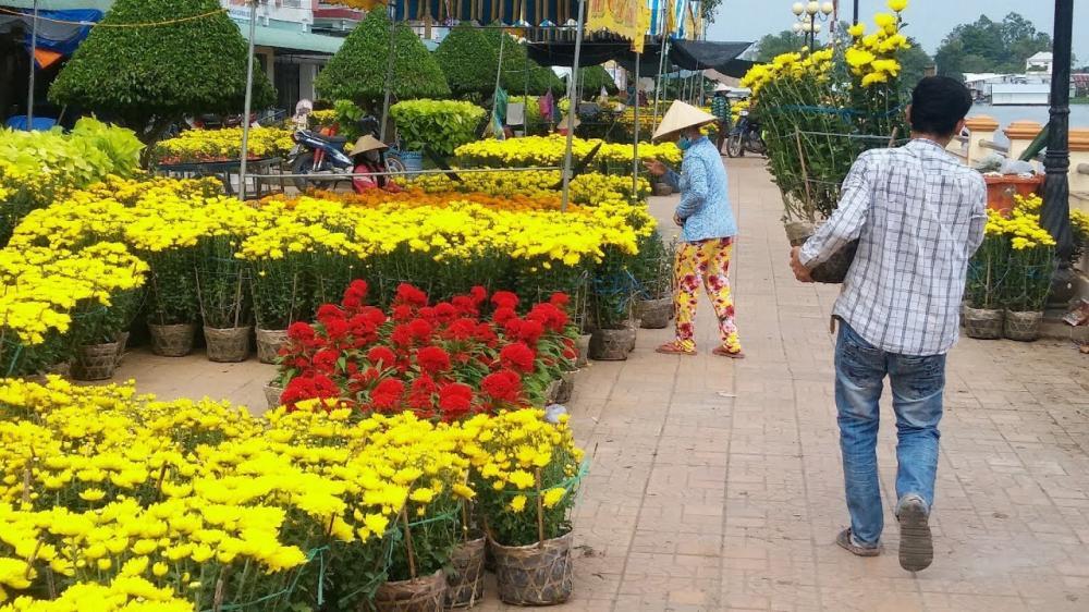 Không khí nhộn nhịp tại đường hoa Hoàng Văn Thụ (TP.Cần Thơ).