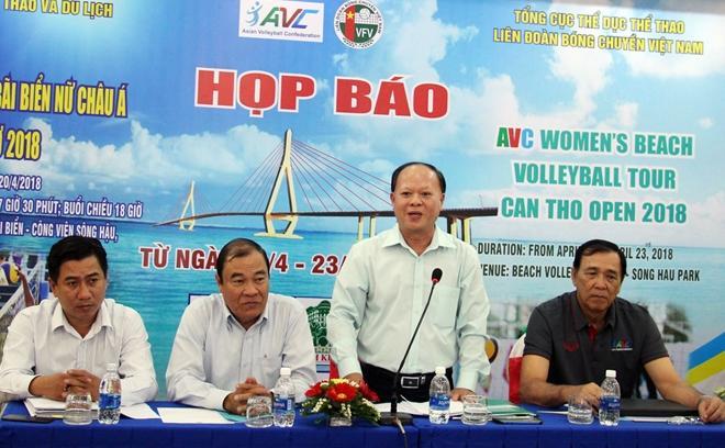 Ông Phạm Văn Luận – Phó Giám đốc Sở VHTT&DL TP Cần Thơ thông tin về giải đấu.