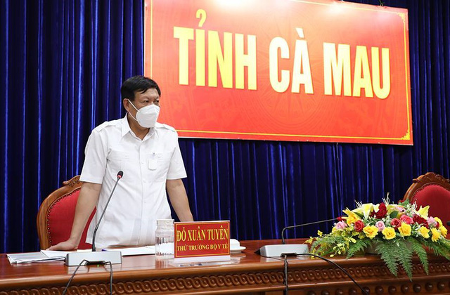 Thứ trưởng Đỗ Xuân Tuyên phát biểu tại cuộc họp với tỉnh Cà Mau.
