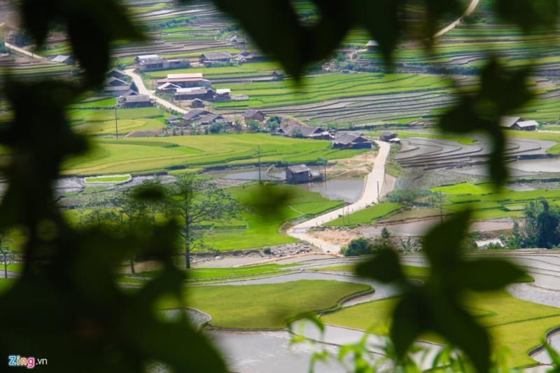 Những bản làng người Mông, Dao lấp ló sau tán cây.