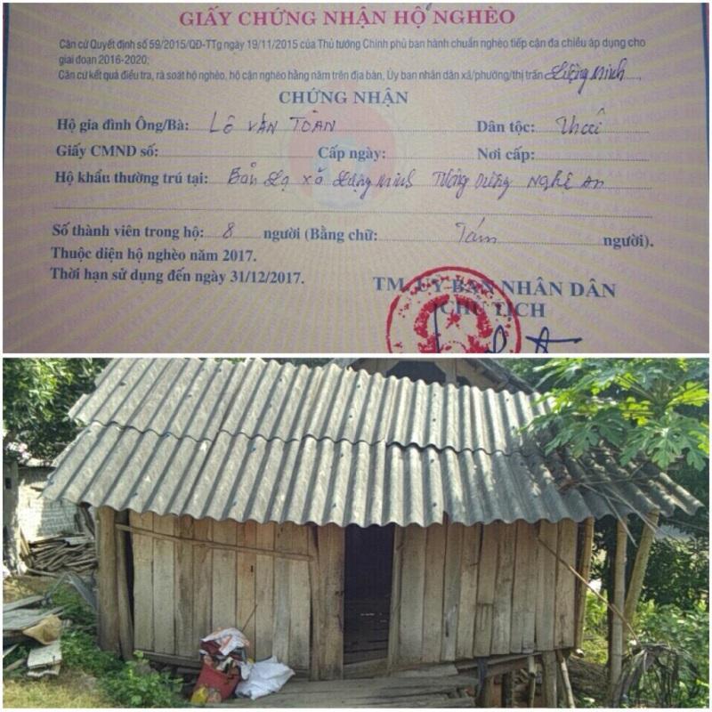 Căn nhà tuềnh toàng, không có thứ gì giá trị của gia đình An - Ảnh: Dân Việt