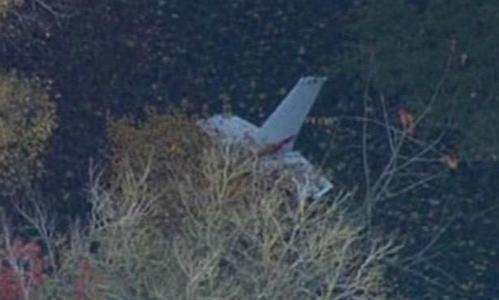 Hiện trường vụ đâm máy bay. Ảnh: BBC.
