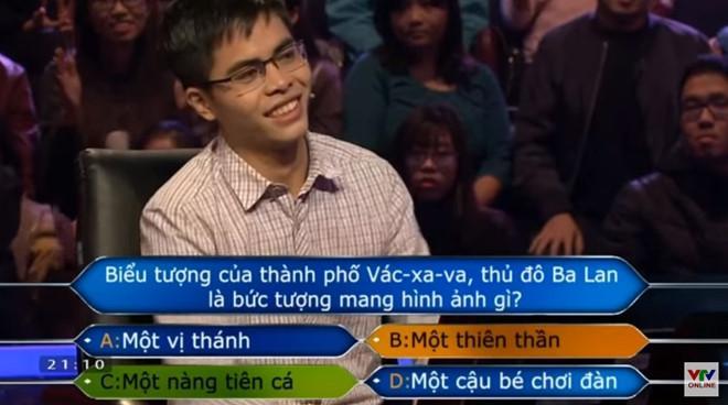 9X dừng cuộc chơi trước câu hỏi khó. Ảnh cắt từ clip.