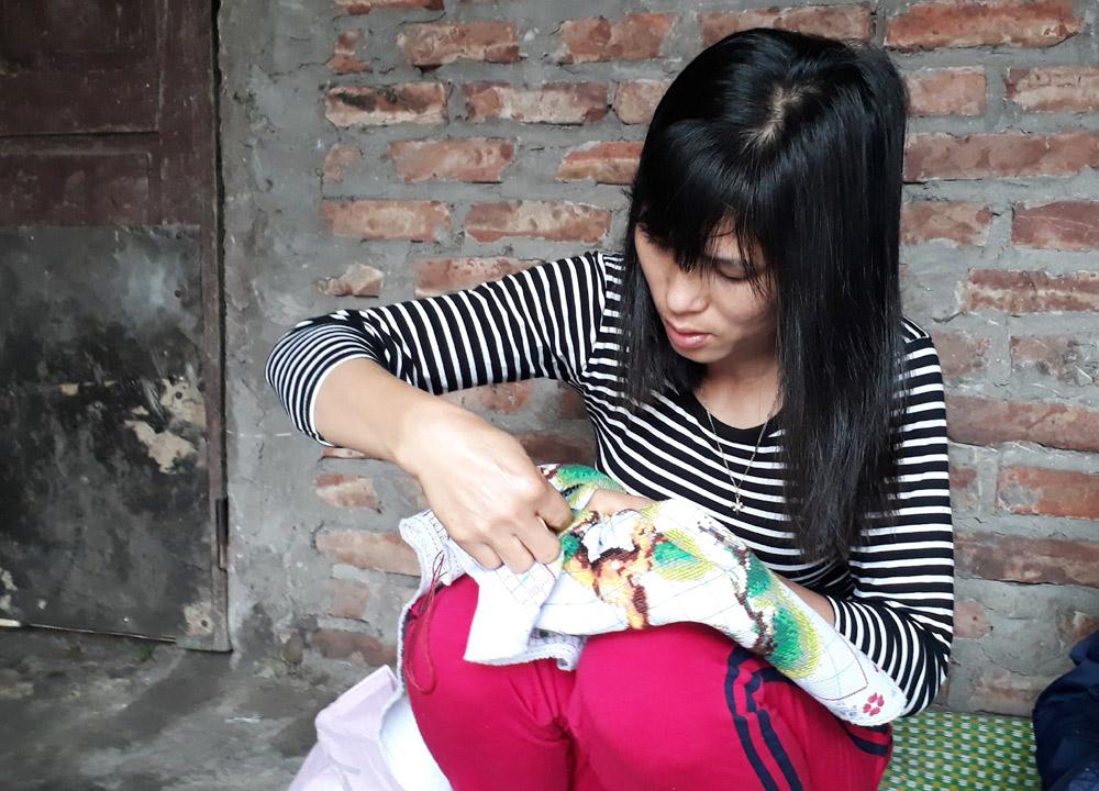 Chị Phan Thị Chiêm (37 tuổi, Vĩnh Phúc). Ảnh: Ngọc Trang