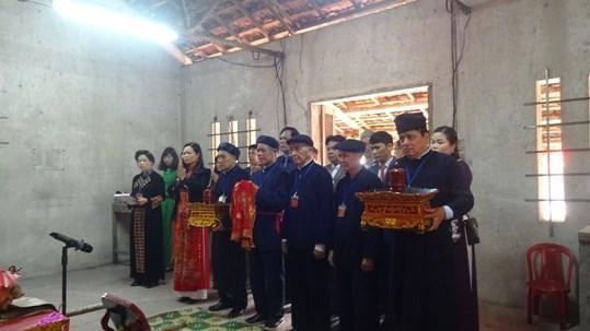 Lễ tế thần tại miếu Bách Linh, Thị trấn huyện Quảng Uyên.