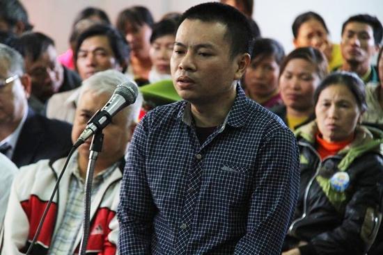 Bị cáo Đặng Văn Hiến tại phiên tòa sơ thẩm