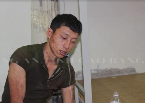 Nghi phạm Lý Đình Khánh tại cơ quan điều tra.