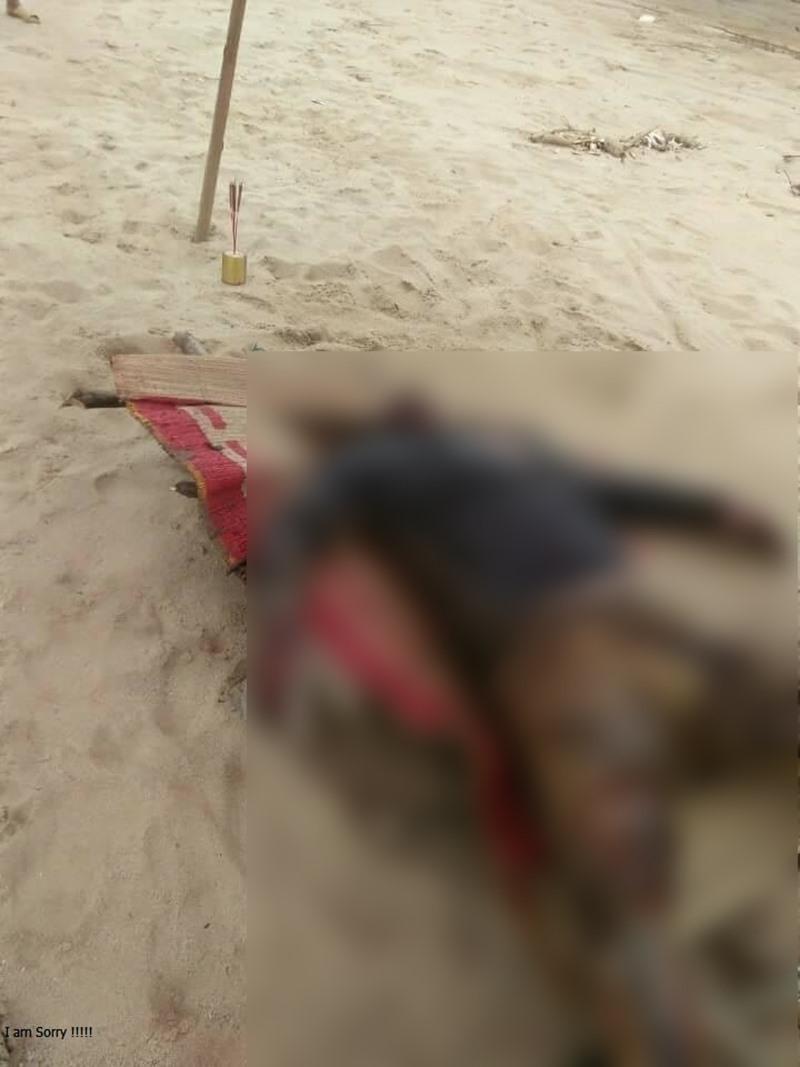 Thi thể nạn nhân được người dân phát hiện khi đang trôi trên sông, đoạn qua xã Động Quan, huyện Lục Yên.