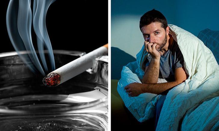 Nếu bạn không muốn bỏ hút thuốc, hãy cố gắng không hút thuốc từ 1,5 giờ đến 2 giờ trước khi đi ngủ. Điều này sẽ giúp bạn ngủ nhanh và ngon giấc hơn.