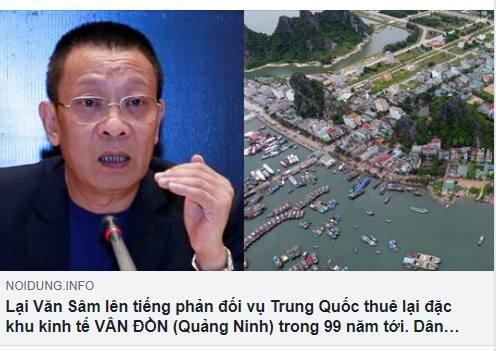 Bức ảnh chụp màn hình bài viết được lan truyền trên mạng sử dụng thông tin từ tài khoản Facebook mạo danh nhà báo Lại Văn Sâm
