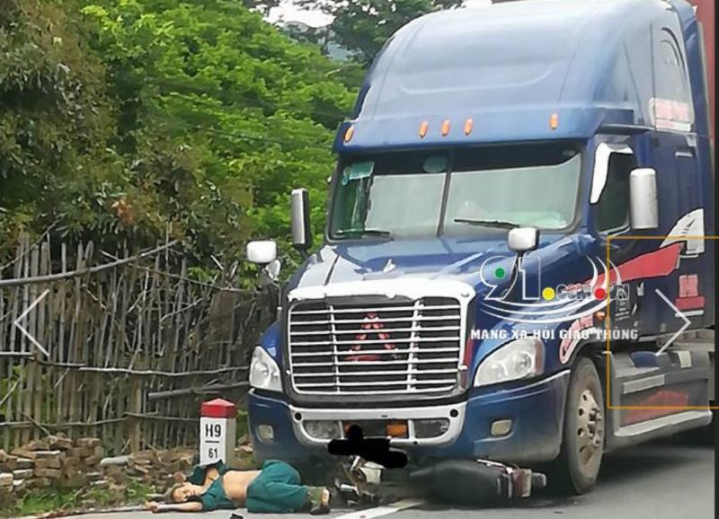 Hiện trường vụ TNGT khiến người đàn ông tử nạn