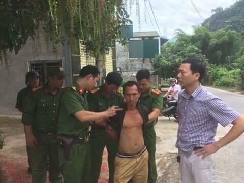 Cơ quan điều tra bắt giữ nghi phạm Nguyễn Duy Doanh. Ảnh: Thời Đại