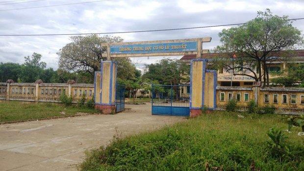 Trường Tiểu học Lê Thuyết - nơi xảy ra vụ cô giáo bị hiếp dâm. Ảnh: Báo Dân Việt