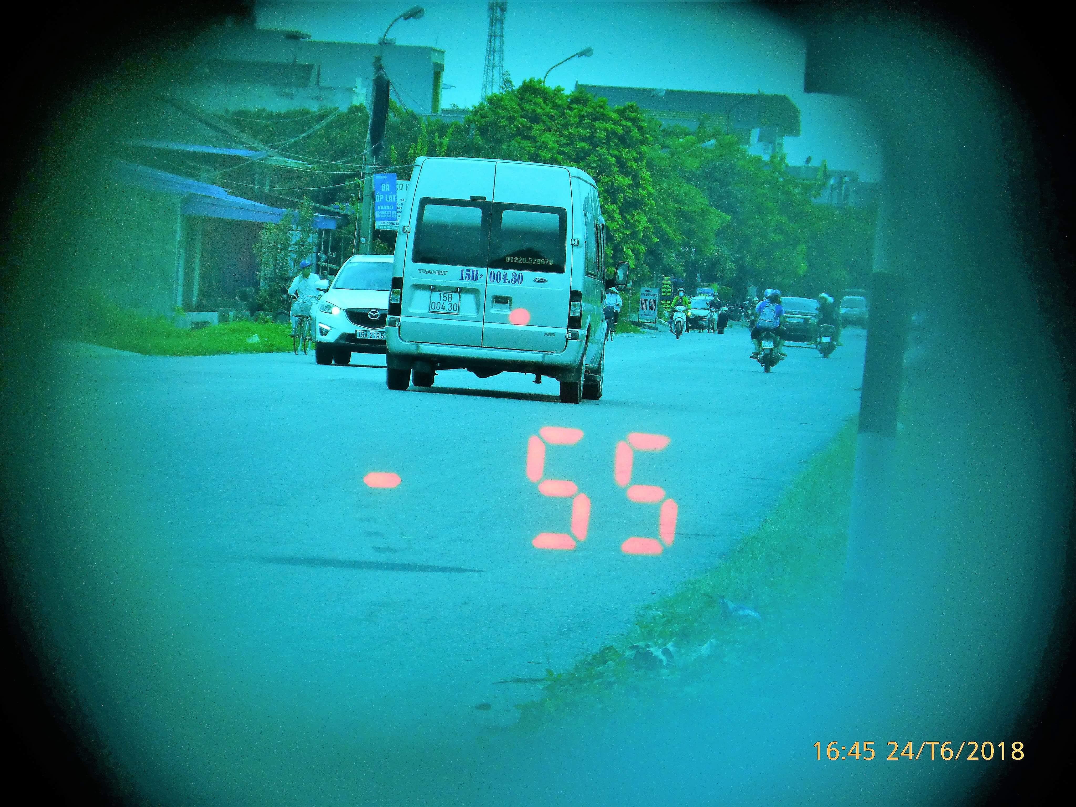 Hình ảnh chiếc xe vi phạm (ảnh do Công an huyện An Lão cung cấp).