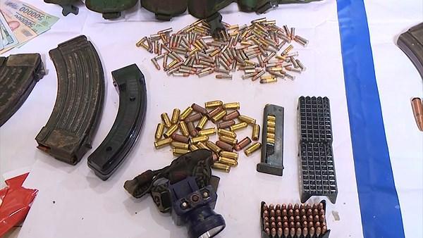 Súng đạn thu giữ được tại nhà ông trùm ma túy