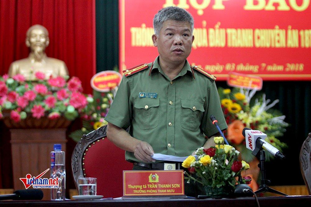 Thượng tá Trần Thanh Sơn, Trưởng phòng tham mưu thông tin đến báo chí
