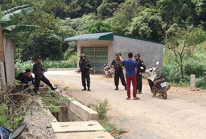 Cảnh sát siết chặt an ninh trong quá trình phá án