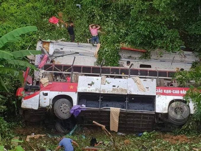 Hiện trường vụ tai nạn (ảnh: Nguyễn Văn Võ).