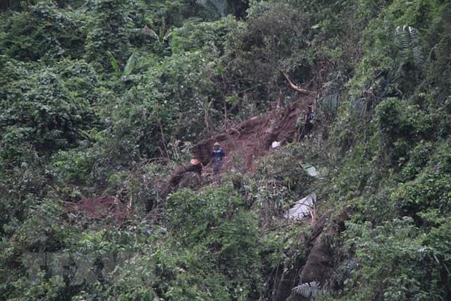 Khu vực phát hiện chiếc máy bay quân sự Su-22 rơi tại Nghệ An. Ảnh người dân cung cấp