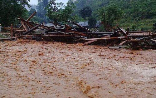 Cảnh báo lũ quét, sạt lở đất trên khu vực các tỉnh Lai Châu, Hà Giang, Sơn La.