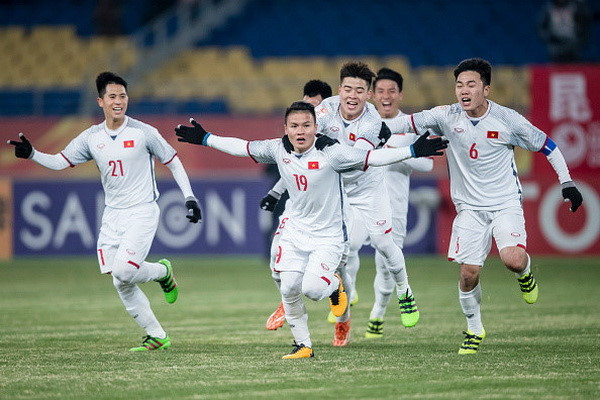U23 Việt Nam sắp đá trận đầu tiên sau kỳ tích tại vòng chung kết U23 châu Á 2018. Ảnh: AFC.