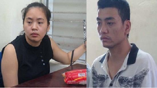 Vợ chồng Trần Thị Kim Ưng và Hoàng Văn Kiên bị cơ quan công an bắt giữ