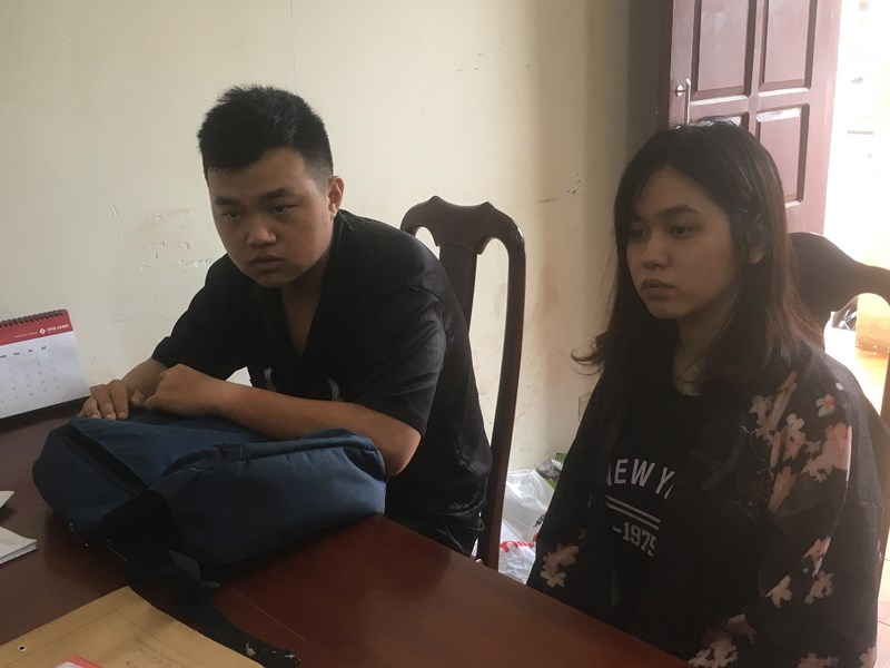 Nữ sinh viên cùng người tình tại công an