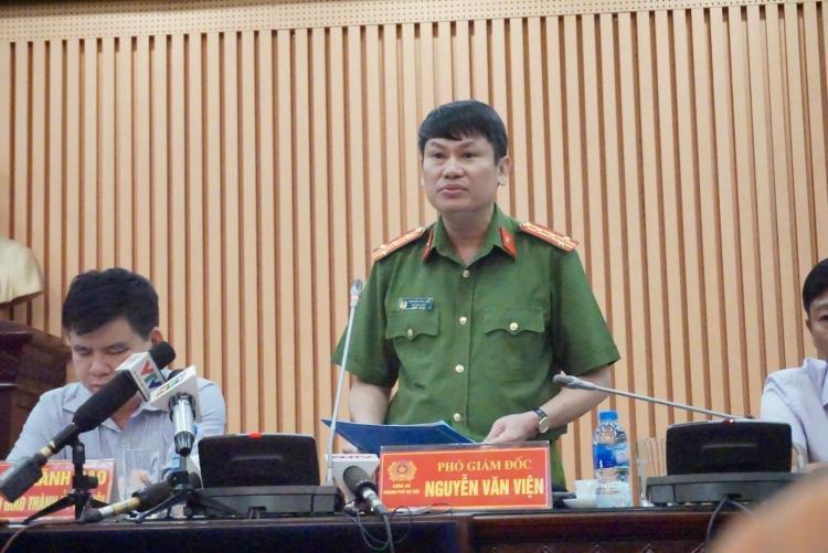 Đại tá Vũ Văn Viện, Phó Giám đốc Công an TP Hà Nội.