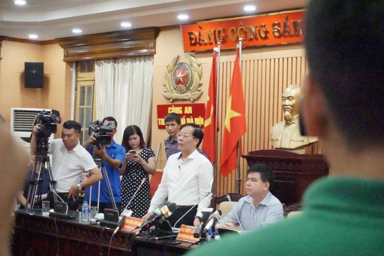 Ông Trương Minh Tiến, Phó Giám đốc Sở Văn hoá, Thể thao Hà Nội thông tin tại cuộc họp báo.