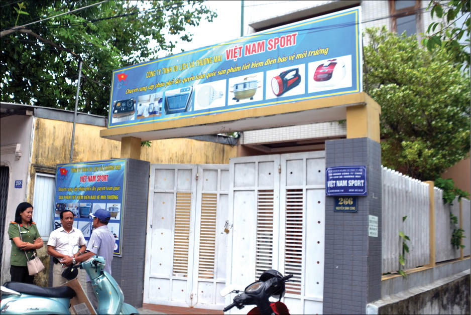 Ngày 18/9, đoàn kiểm tra về chi nhánh Công ty TNHH Du lịch và Thương mại Việt Nam Sport tại Huế thì đã ngưng hoạt động