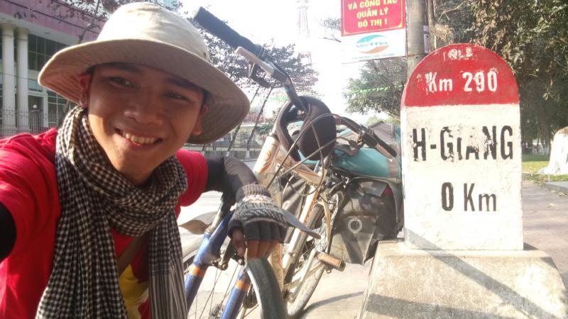 Lê Hữu Toàn chia sẻ về hành trình đạp xe xuyên Việt.