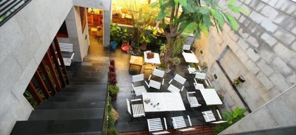 Không gian cafe Hẻm được chụp từ trên cao. (Nguồn: we25.vn)