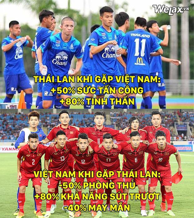 Thái Lan được cộng dame khi gặp Việt Nam.