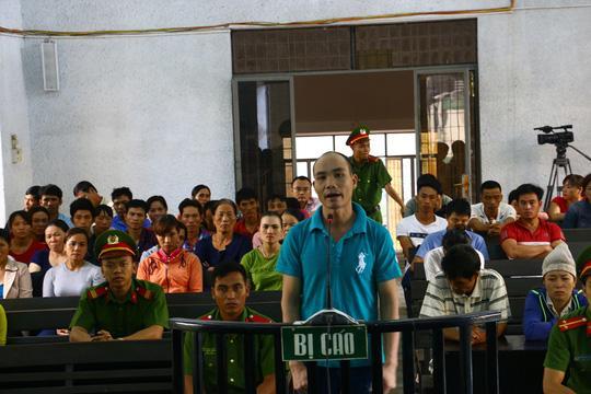 Bị cáo Nguyễn Văn Ngọc tại phiên tòa sơ thẩm