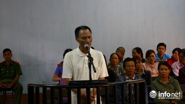 Bị cáo Nguyễn Quốc Chinh tại phiên tòa xét xử.