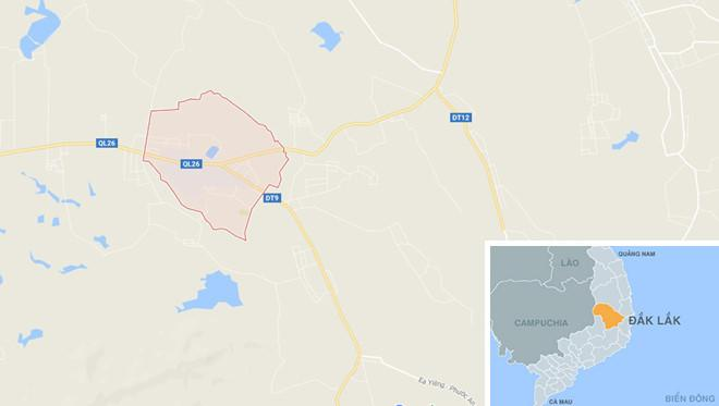 Thị trấn Phước An nơi xảy ra vụ tai nạn. Ảnh: Google Maps.