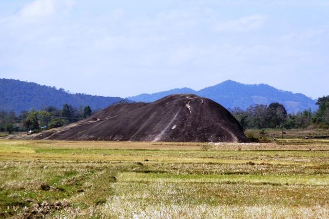 Đá voi mẹ sừng sững giữa cánh đồng bằng phẳng.