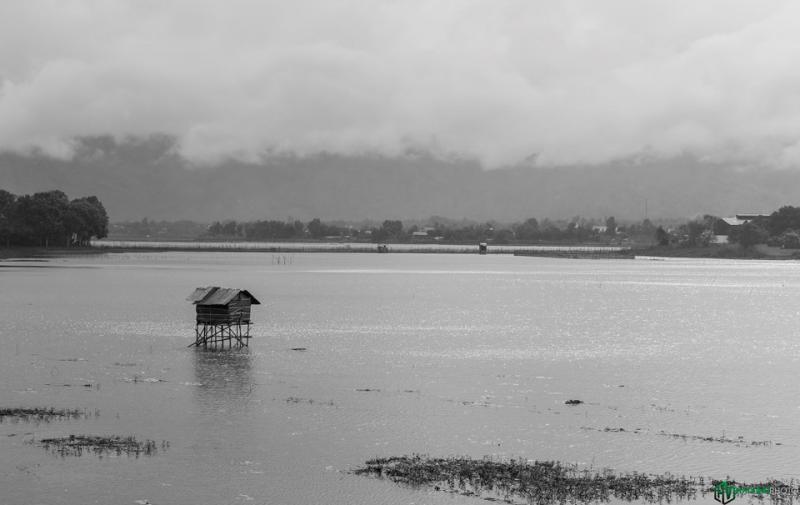 Một góc hồ Lak, hồ nước ngọt lớn nhất của tỉnh Đắk Lắk và lớn thứ hai Việt Nam, được bao bọc bởi những cánh rừng nguyên sinh và những buôn làng của người dân tộc M'Nong.
