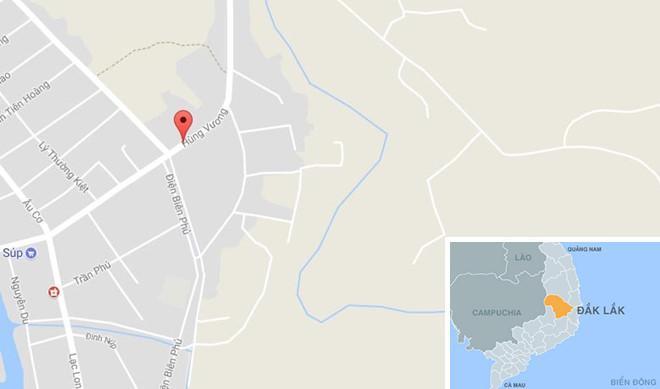 Đường Hùng Vương nơi xảy ra tai nạn. Ảnh: Google Maps.