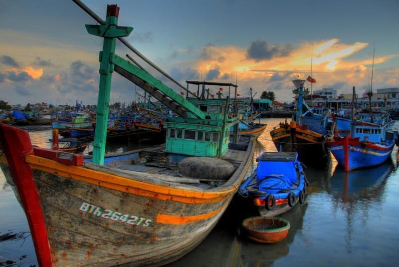 Thuyền đánh cá ở Phan Thiết (Ảnh: Lucas Jans / Flickr)