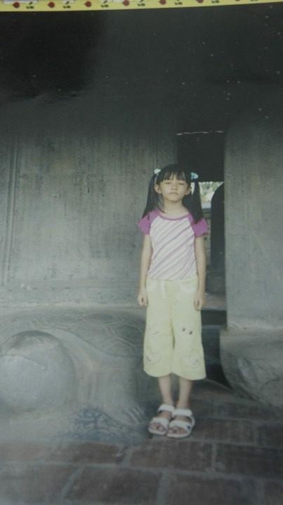 Hình ảnh Hương Sen hồi bé.