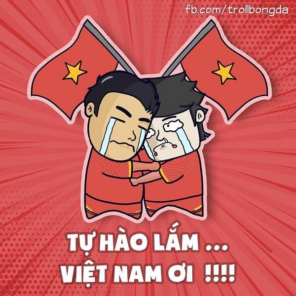 Các cổ động viên Việt Nam vỡ òa trong hạnh phúc...