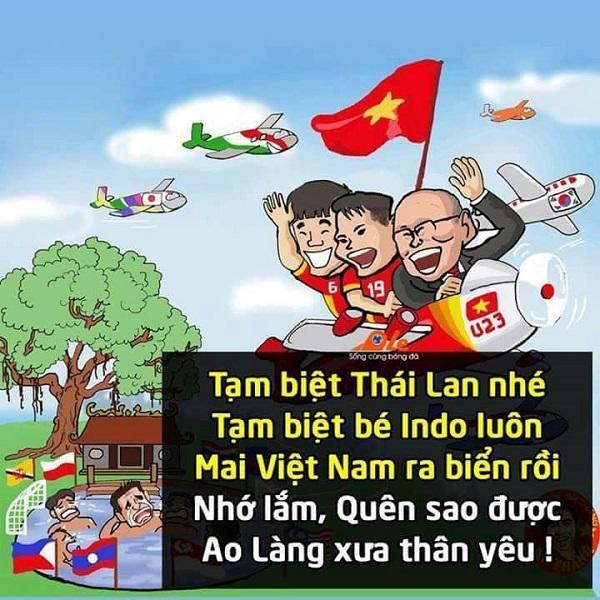 Họa sĩ An Thắng mừng Việt Nam rời ao làng và bước ra biển lớn bằng bức tranh biếm họa cười rớt hàm.