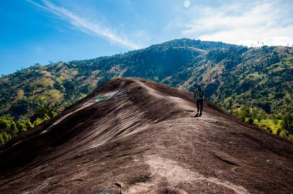 Đá Voi Mẹ có chiều dài khoảng 200m, chu vi dưới chân đá khoảng 500m (Nguồn: ivuvu.com)