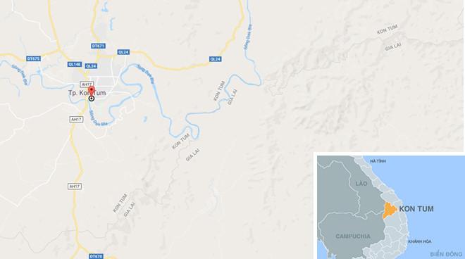Sự việc xảy ra tại thành phố Kon Tum. Ảnh: Google Maps