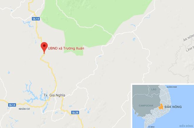 Xã Trường Xuân nơi xảy ra tai nạn. Ảnh: Google Maps.