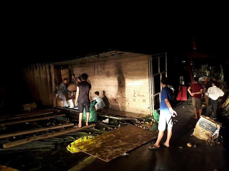 Vụ tai nạn khiến 4 người bị thương.